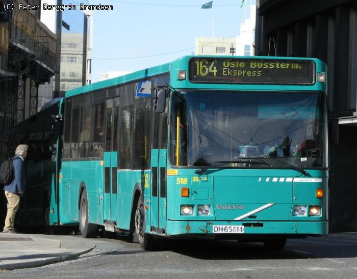 Norgesbuss	518	,	Nationaltheatret 	- Rute	164